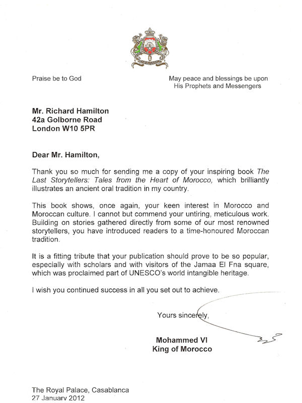 Letter from King Mohammed VI
